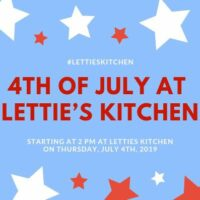 4th of july celebration at letties kitchen